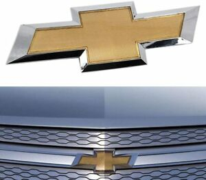 New 10 14 Chevy Cruze Front Grille Emblem Badge Logo Bowtie W Adhesive Gold