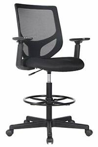 Drafting Chair Tall Office Chair For Standing Desk Drafting Mesh Table Chair Wit