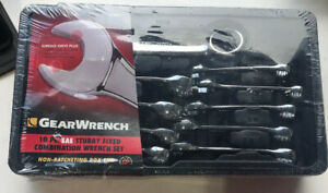 Gear Wrench 10 Pc Sae Stubby Fixed Combination Wrench Set 81905