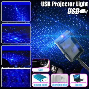 Usb Car Interior Led Projector Light Roof Atmosphere Starrry Sky Star Night Lamp