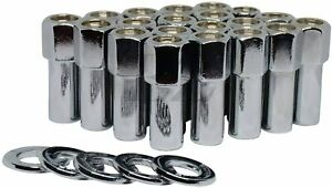 Open End Cragar Sst Mag Lug Nut 12x1 5 With Center Washer Set Of 20 Pcs