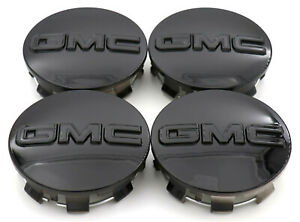 4pcs Gloss Black Gmc Sierra Yukon Wheel Center Hub Caps 83mm 23357064 20942032