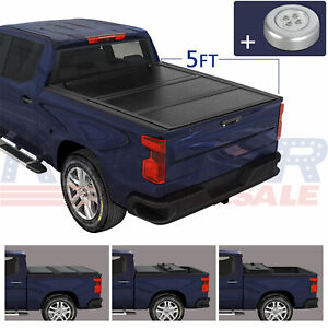Hard Solid Tonneau Cover Tri Fold 5ft Truck On Top Fit For Ford Ranger 2014 2018