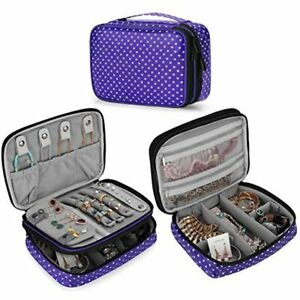 Teamoy Travel Jewelry Organizer Case Storage Bag Holder For Necklace Earrings