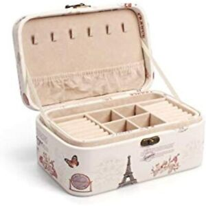 Outry Jewelry Box Portable Display Storage Organizer For Earrings Necklaces 2