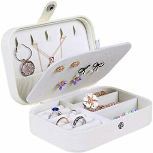 Jewelry Box For Women Doubel Layer Travel Organizer Necklace Earring Rings Case