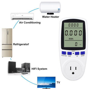 Power Meter Monitor Energy Watt Volt Amps Kwh Consumption Electricity Analyzer