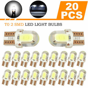 20x T10 194 168 W5w Cob 2smd Led Canbus Bright White License Interior Light Bulb