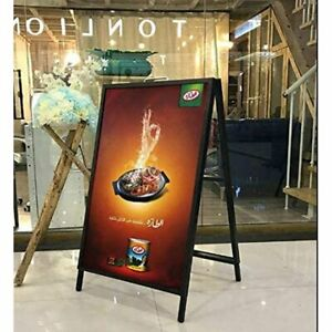 Heavy duty Metal A frame 24x36 Double sided Sign Holder Sidewalk Sign Display St