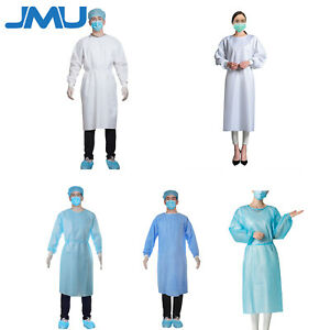 10pcs Unisex Isolation Gown Protective Workwear For Dental Office Ppe 4styles