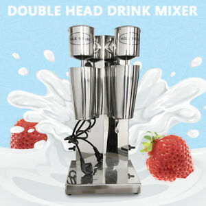 2 Heads Hecommercial Milk Shake Machine Electric Milkshake Mixer Drink Blender