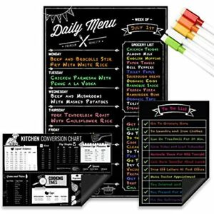 Magnetic Dry Erase Menu Board Kitchen Conversion And To Do List Set For Fridge