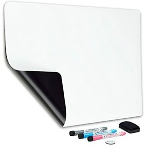 Magnetic Dry Erase Whiteboard Sheet For Fridge 19x13 In With Stain Resistant
