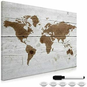 Navaris Magnetic Dry Erase Board 24 X 36 Inches Decorative White For Wall With
