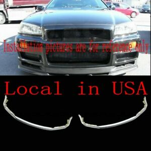 For Nissan R34 Skyline Gtr Oe Front Bumper Middle Diffuser Lip Frp Unpainted