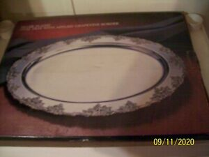 Godinger Silver Plated Serving Tray Oval With Grapevine Border Wedding Nos