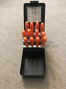 Nos Snap on Tools Mini 12 Pak O Combination Set Hook Screwdriver Torx Orange
