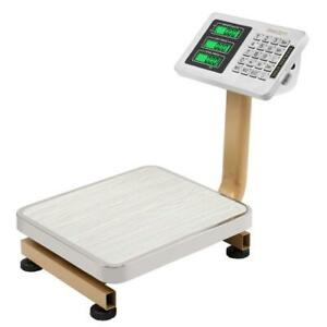 176lb 80kg Weight Price Scale Digital Floor Platform Shipping Warehouse Postal