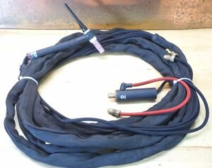 Miller Weldcraft W 225 Water Cooled Tig Torch 12 5 50mm Dinse Cable Cover