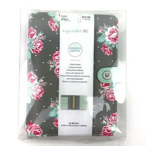 Agenda 52 6 Ring Binder Personal Planner Mint Berry New The Paper Studio