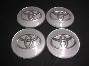 4x 65mm Silver Wheel Center Cap Decal Sticker For Camry Sienna Corolla 4runner