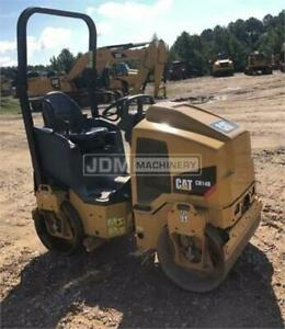 2017 Caterpillar Cb14b Vibratory Smooth Drum Roller Compactor Cb14