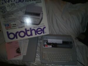 Brother Correctronic Gx 6750 Daisy Wheel Electronic Typewriter Used In Open Box