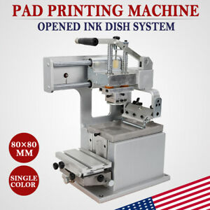 Manual Pad Printer With Opened Ink Dish System Pad Printing Machine 80 80mm Us