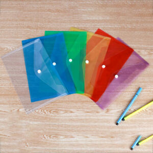 5pcs Plastic Envelopes Document Folder Letter Transparent File Envelopes Ii