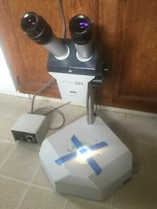 Zeiss Stemi Dv 4 Stereozoom Microscope And Diagnostic Instrument Stand