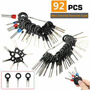 92pcs Car Terminal Removal Tool Kit Wire Connector Extractor Puller Release Pin