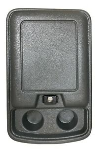 78 91 1978 1991 Ford Truck Bronco Center Console Dk Gray W working Keyed Latch