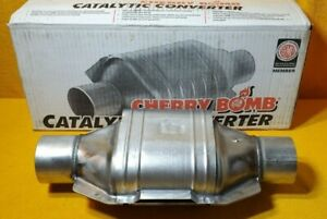 New Cherry Bomb 38504 Universal Catalytic Converter 2 1 2 In Out