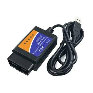 Elm327 Usb Obdii Obd2 Interface Car Diagnostic Scanner Auto Scan Cable Adapter