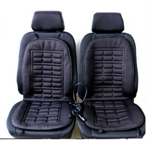 12v Car Seat Heater Thickening Heated Pad Cushion Winter Warmer Cover Kit Us