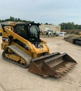 2017 Caterpillar 289d Cab Heat Air Track Skid Steer Loader Cat 289