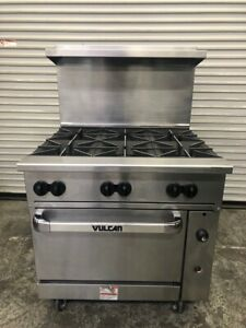 36 Natural Gas Open Burner Range Oven Nsf Stove Cooktop Vulcan 36s 6bn 3336