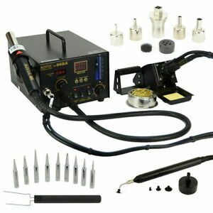 Aoyue 968a 4 In 1 Digital Soldering Iron Hot Air Station