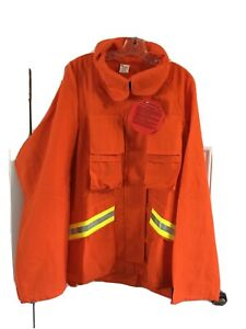 Firefighter Wildland brush Jacket With Reflective Stripes 3xl Barrier Wear Nwt