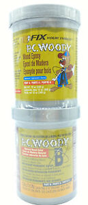 Pc Products Pc woody Wood Repair Epoxy Paste Two part 12oz In Two Cans Tan