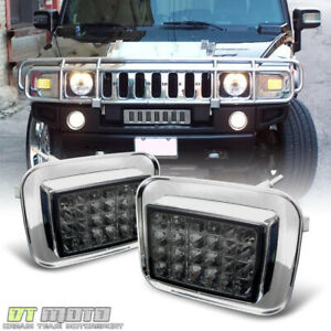 Smoked 2003 2009 Hummer H2 Led Corner Signal Lights Parking Lamps Left Right