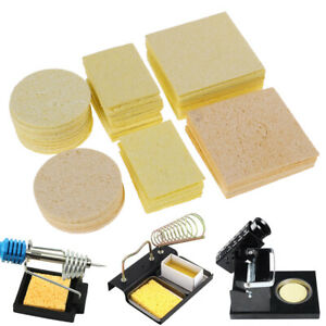 10pcs Cleaning Sponge For High Temperature Resistant Soldering Iron Solder To