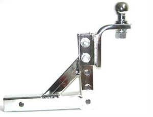 Chrome 10 Adjustable Trailer Drop Hitch Mount For 2 Receiver 1 7 8 Hitch Ball