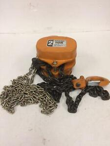 Magna Hoist 2 Ton Chain Hoist With Chain Working Free Shipping Qty Available