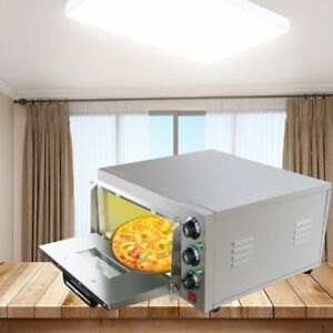 Electric Pizza Oven Baking Cake Bread Roasted Pies Countertop Single Desk Home A