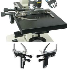 Microscope Attachable Mechanical Stage X y Moveable Caliper Vernier With Scale