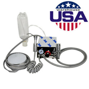 Fda Portable Dental Turbine Unit Work With Air Compressor 4hole Water Syringe