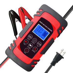 8a 12v 24v Intelligent Smart Automatic Car Auto Rv Battery Charger Pulse Repair