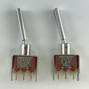 Lot Of 2 C k 7101 Toggle Switch On On 4v Max 3 Pin Made In U s a