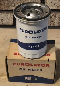 Vtg Purolator Per 14 Oil Filter 1960s New Old Stock Replaces Ac Pf4 Corvair